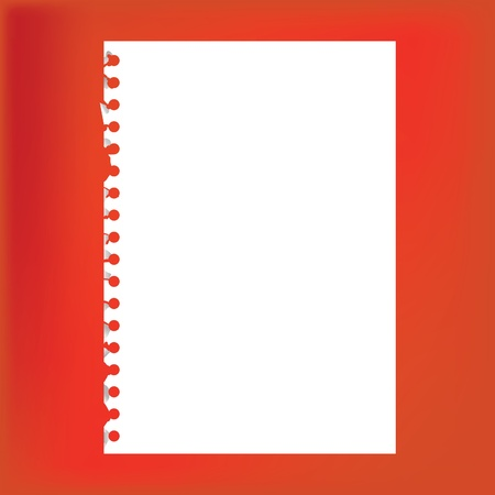 Close up of blank notepad paper - illustration Vector
