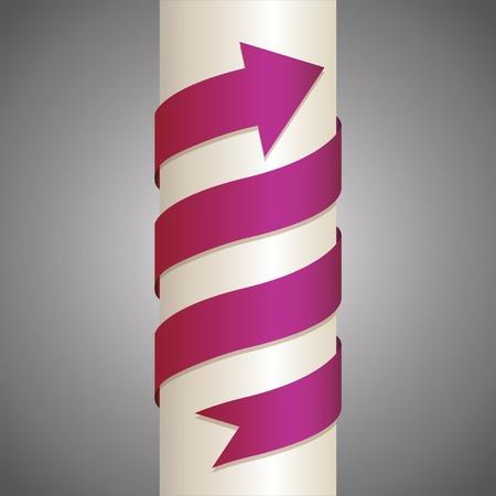 wrapped around: arrow wrapped around the pillar - illustration
