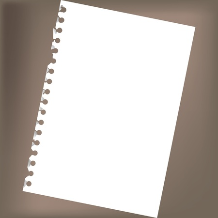 scratch pad: Close up of blank notepad paper - illustration