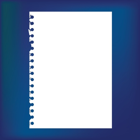 spiral pad: Close up of blank notepad paper - illustration