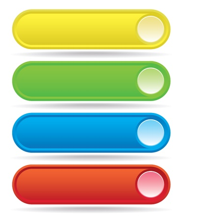 oval: set ofcolor web buttons - illustration