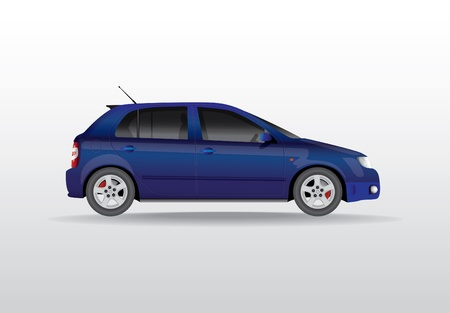 car front view: Car from the side - realistic illustration Illustration