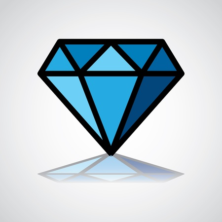 gemstone: diamond symbol, design icon, concept identity - illustration