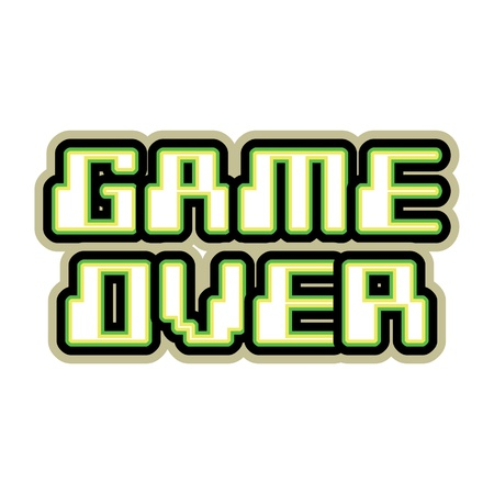 game over: Game over concept of logo - illustration