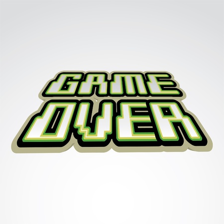 over: Game over concept of logo - illustration