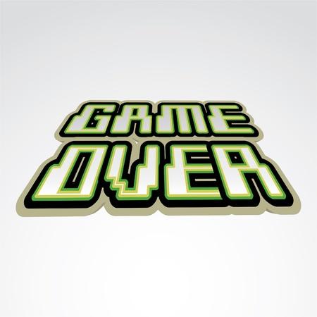 Game over concept of logo - illustration 版權商用圖片 - 12861031