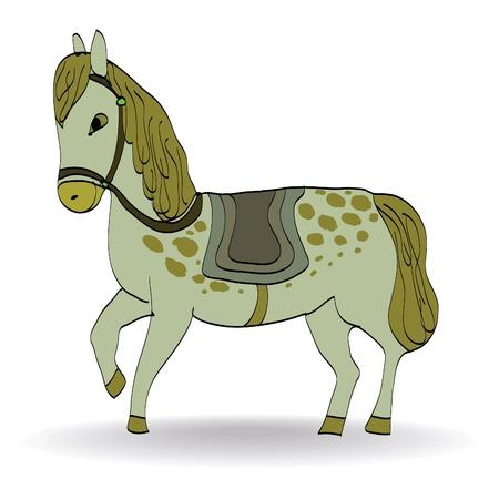 nostril: cute cartoon illustration of horse