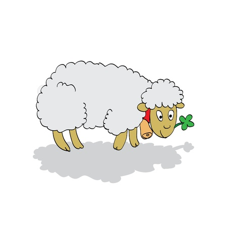 cute lamb Vector