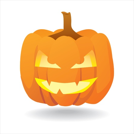 gourd: Abstract halloween smiling pumpkin - illustration Illustration