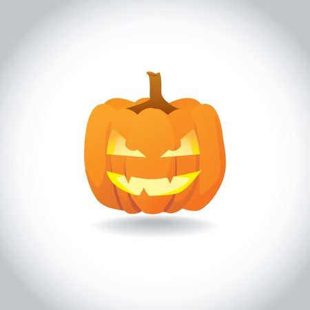 Abstract halloween smiling pumpkin - illustration Vector