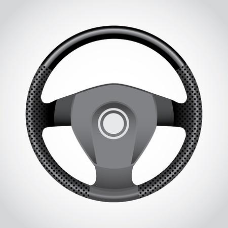 interior accessories: Steering wheel - realistic illustration