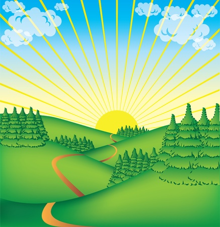 cute countryside illustration illustration