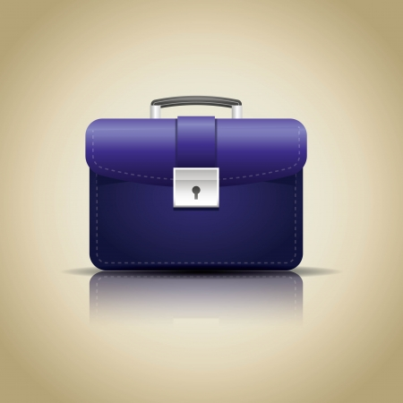 business case: work bag with glass reflection - illustration