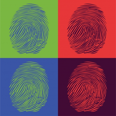 fingerprints detailed illustration pop art style Illustration