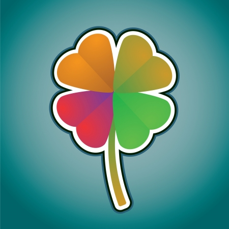 multicolored four-leaf clover - illustration Stock Vector - 13868417