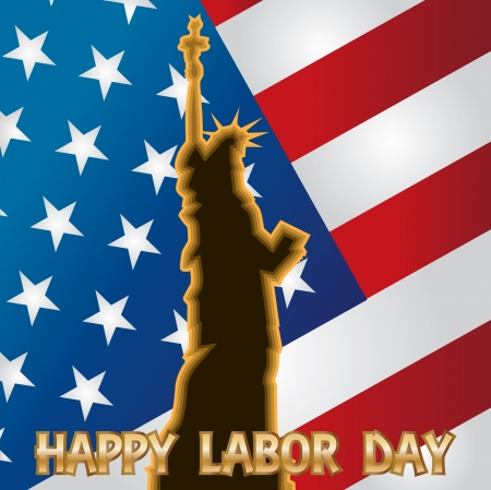 happy labor day - illustration Vector
