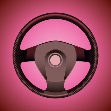 sport steering wheel - realistic illustration Stock Vector - 13868489