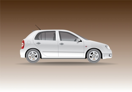 Car from the side - illustration Vector