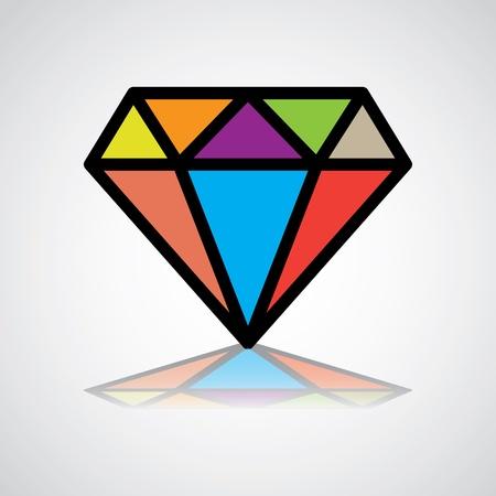 unbreakable: diamond symbol, design icon, concept identity - illustration