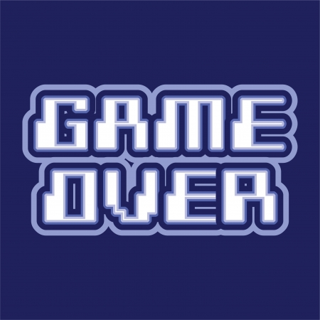 game over: Game over logo design illustration