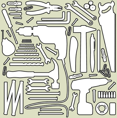 DIY tool - silhouette illustration Vector