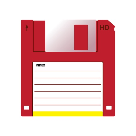 HD diskette old data media illustration Illustration