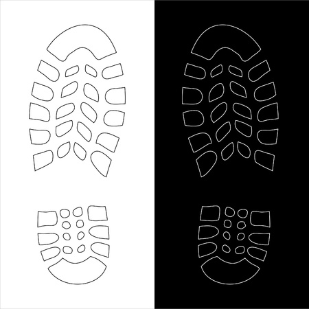 shoe print illustration Vector