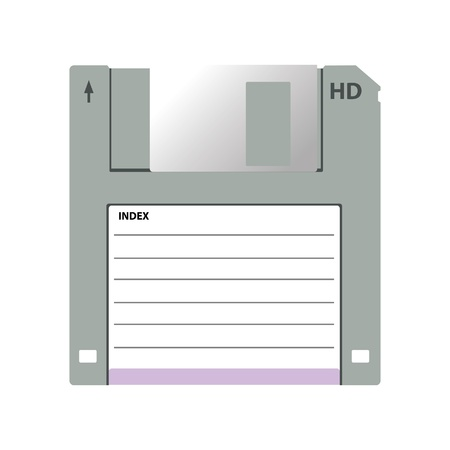 HD diskette old data media illustration Vector