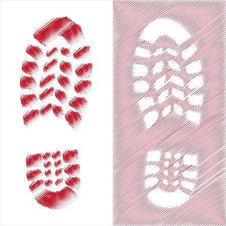Shoe print illustration Stock Vector - 14075866