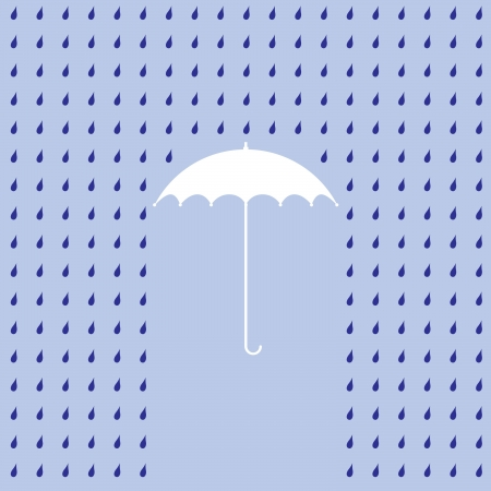 raining on a umbrella - illustration Vector