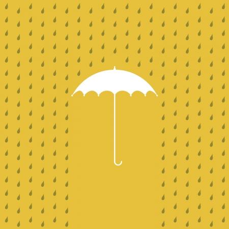nylon: raining on a umbrella - illustration