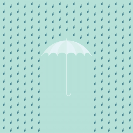 EPS10 raining on a umbrella - illustration