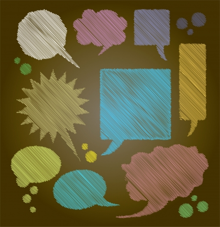 color bubbles for text on dark background - illustration Vector