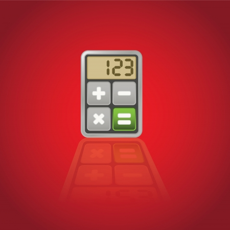 Calculator, application icon - isolated illustration Vector