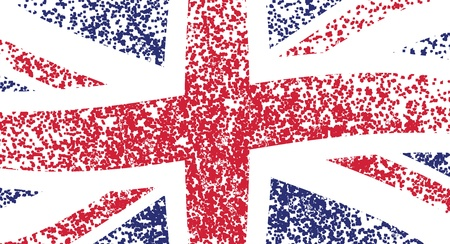 UK flag, wavy -  grunge illustration Vector