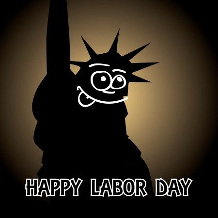 happy labor day theme- illustration Vector