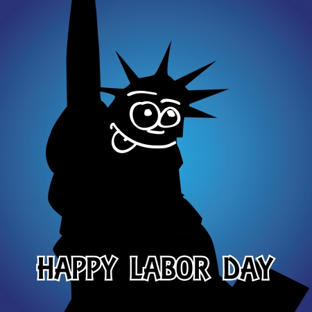 happy labor day theme- illustration Stock Vector - 14342372
