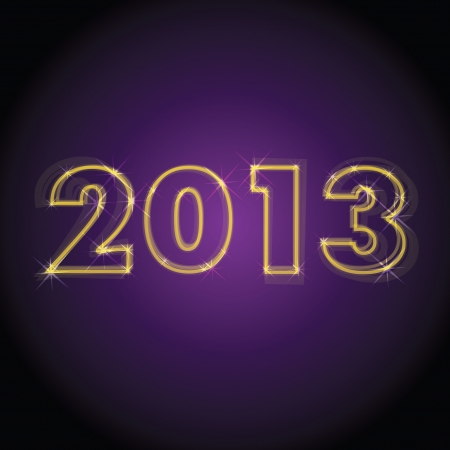 concept of logo 2013 year - illustration Vector