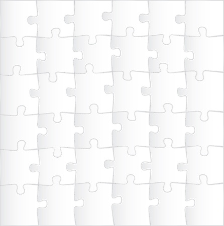 complete solution: blank puzzle template background - illustration Illustration
