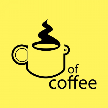 cup of coffee concept - illustration