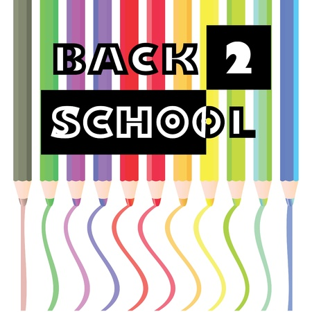 back to work: back to school pencils theme -illustration