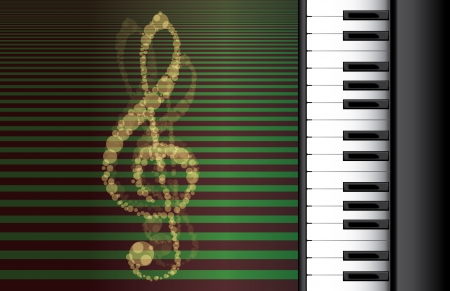 piano roll on abstract background Stock Vector - 14509645