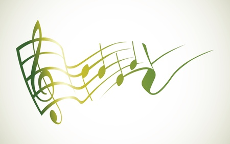 g key and notes in one tact logo - illustration
