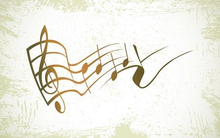 tabique: g clave y notas en el logo de un contacto - ilustraci�n