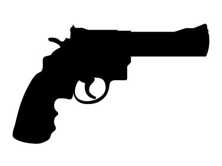 pistola: Silueta del potro pistola cl�sico - ilustraci�n