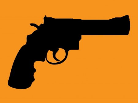 Silhouette of classic gun colt - illustration Vector