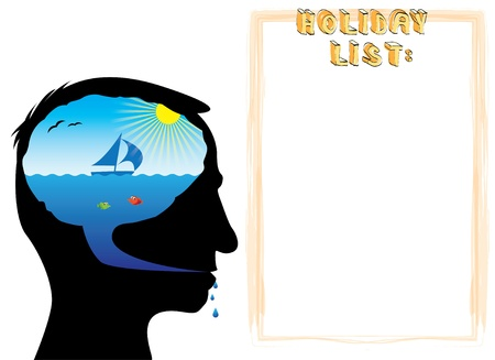 salt free: Holiday list fun theme - illustration Illustration