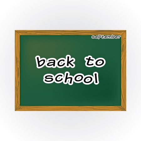 Back to school theme with table and letters Vector