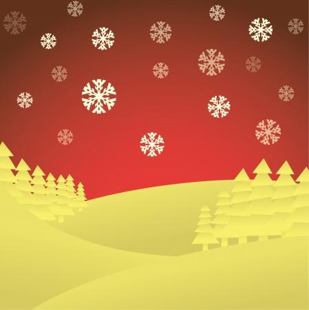 trabajo manual: Tema del invierno, feliz navidad tarjeta, - ilustración Vectores