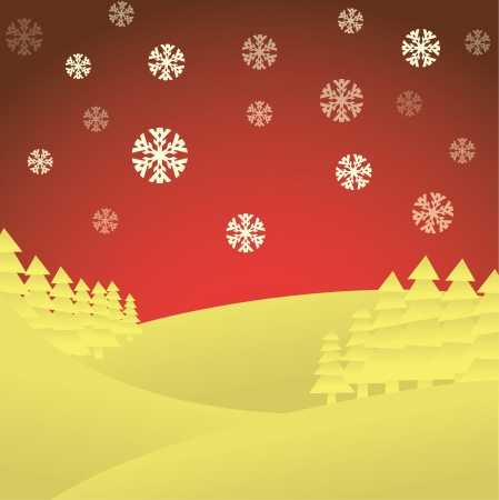 handwork: Winter theme, merry christmas card, - illustration